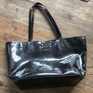 Kate Spade Harmony Black Patent Leather Tote